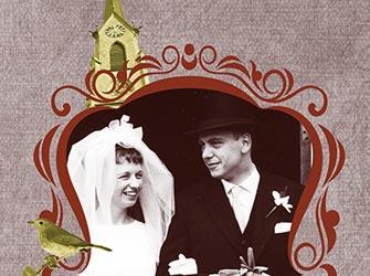 Trouwkaart 50-jarige bruiloft