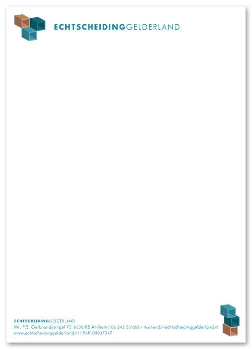 briefpapier Echtscheiding Gelderland