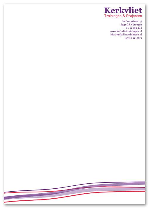 briefpapier Kerkvliet trainingen & projecten