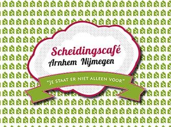 Flyer voor het Scheidingscafé Arnhem Nijmegen