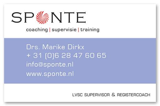 visitekaartje Sponte