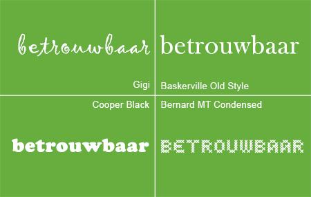 welk lettertype kies je?