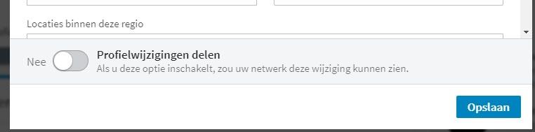 """Staat """"Profiel wijzingingen delen"""" goed ingesteld?"""